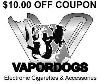 Electronic Cigarette OEM $10.00 OFF Coupon   Go Vapordogs