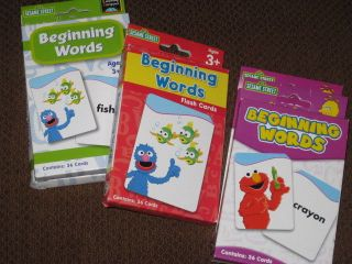 Elmo Abby Big Bird Sesame Street Flash Cards Education Beginning Words