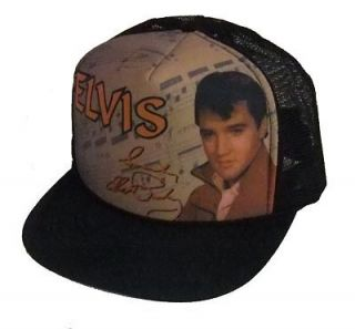 Elvis Presley Cap Elvis Red Jacket Black New