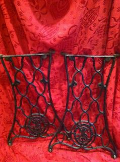 VINTAGE Singer Sewing Machine Legs Table Stand Industrial Decor