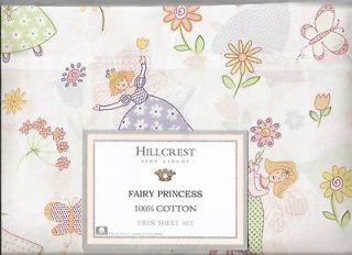 HILLCREST Fine Linens  Twin Sheet Set   Fairy Princess   First