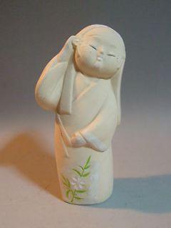 Japanese Ceramic HAKATA NINGYO Doll 15cm / Closed Eyes