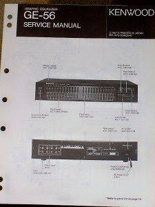 Kenwood GE 56 Graphic Equalizer Service/Parts Manual