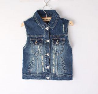 NEW vest women influx denim vest denim clothing vest in punk Rock S,M