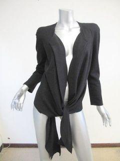 Etoile Isabel Marant Black Modern Open Tie Hem Jacket 2