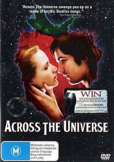 ACROSS THE UNIVERSE  NEW+SEALED R4 DVD  Beatles Music