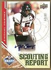 MICHAEL CRABTREE 09 UD NFL DRAFT SCOUTING REPORT HAND SIGNED CARD #204