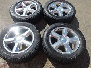 20 OEM Factory Polished Chevy Taho Wheels Rims Tires Used