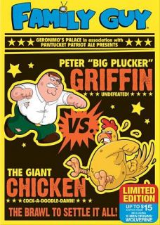 Family Guy Chicken Fight DVD, Limited Edition f.y.e. Exclusive