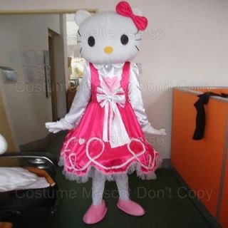 New Adult Hello Kitty Costume Mascot Party Clothing Fancy Dress Suit
