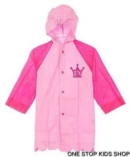 FANCY NANCY 2T 3T 4T 5T 4 5 6 Girls RAIN SLICKER Coat Jacket