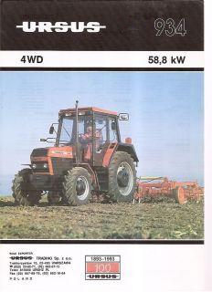 Farm Tractor Brochure   Ursus   934   1992 (Poland) (FB210)