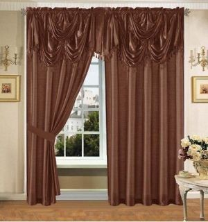 brown window curtains in Curtains, Drapes & Valances