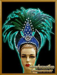 GREEN Drag Queen CABARET BURLESQUE Feather HEADDRESS