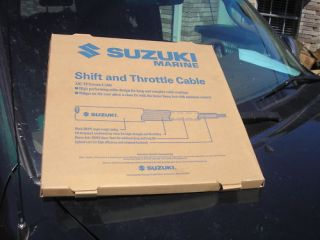 SUZUKI 12 FOOT BOAT THROTTLE SHIFT CONTROL CABLE 3300 EXTREME PART