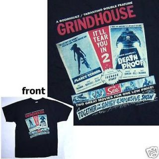 GRINDHOUSE PLANET TERROR DEATH PROOF DOUBLE FEATURE BLK T SHIRT