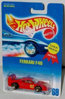 Hot Wheels Ferrari F40   Gold Laced Wheels   Collector #69 Malaysia