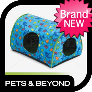 SMALL LITTLE DOG/CAT/PET KITTY CAMPER INDOOR GREEN FISH BED/PAD