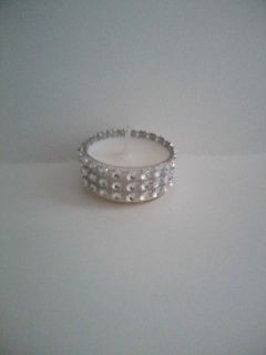 set of 50 rhinestone tea lights great for weddings or showers