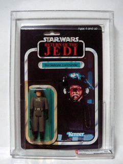 Star Wars Kenner Carded ROTJ 77 Back A Star Destroyer Commander AFA