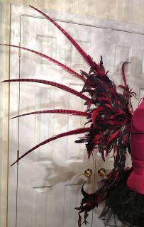 CUSTOM Premium Red Feather Angel Wings Secret Dark Spikes Pheasant