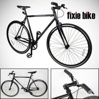 Newly listed 54cm Black Fixed Gear Bike Single Speed Riser Bar Fixie