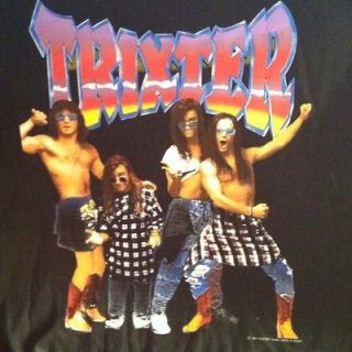 Trixter vtg concert tour shirt rare 80s 90s metal hair band poison