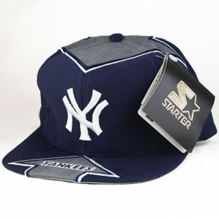 Starter NY Yankees Snapback Hat Cap Flame Game Big Logo Jay Z NEW