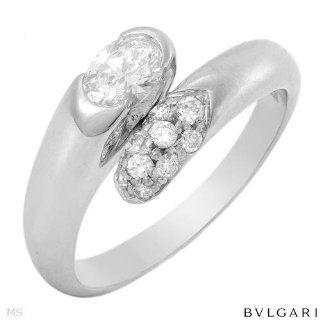 Bulgari 18K White Gold 0.4 CTW Color H VVS2 Diamond and 0
