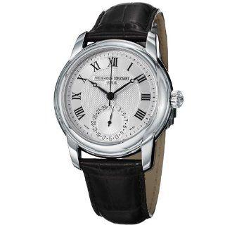 Frederique Constant Mens FC710MC4H6 Maxime Black Leather Strap Watch