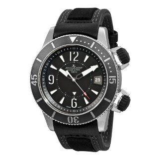 Jaeger LeCoultre Mens Master Compressor Diving Alarm Navy Seals Watch