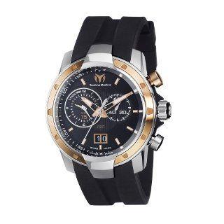 TechnoMarine Mens 611003 UF6 Pink Gold PVD Bezel Watch Watches