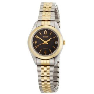 Timex Womens T2N320 Elevated Classics Dress Two Tone Stainless Steel