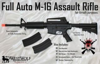 FULL/SEMI AUTO M 16 Electric Airsoft Rifle/Gun    M4A1 AEG + 2 Mags