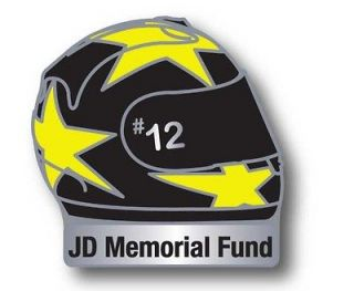 John Donnan #12 Memorial Fund Irish Road Racing Motorcycle Helmet Pin