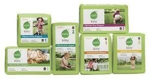 Seventh Generation Free and Clear Baby Diapers ALL sizes YOU pick