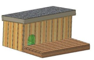INSULATED DOG HOUSE PLANS, 15 TOTAL, MEDIUM DOG, WITH PATIO EASY TO