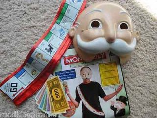 Mens halloween Costume   Monopoly Man   Adult Kit   One Size   3 pc