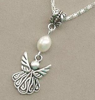 Genuine Pearl Guardian Angel Necklace Pendant NEW **low shipping fee