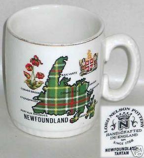 VTG LORD NELSON POTTERY CANADA NEWFOUNDLAND TARTAN Plaid MUG