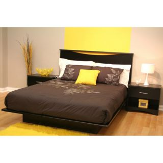 South Shore Basics Full Platform Bed with Molding, Multiple Colors