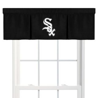 MLB Chicago White Sox Black Window Valance 15x50 product details