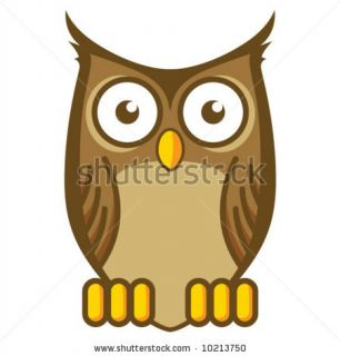 Cartoon Owl Stock Vector 10213750 : Shutterstock