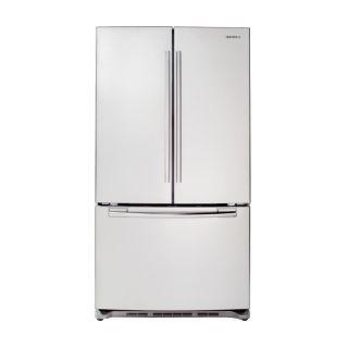 Shop Samsung 25.8 cu ft French Door Refrigerator (White) ENERGY STAR