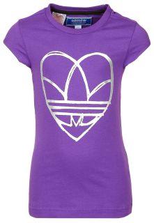 adidas Originals T Shirt print   power purple   Zalando.de