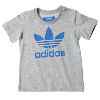 Modèle J AC TRF Logo. Coloris  gris et bleu. T shirt enfant manches