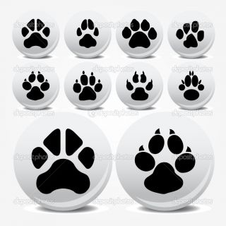 Collection of animal foot prints vector icons  Stock Vector