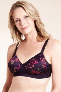 Post Surgery Floral Padded Non Wired A DD Bra   Marks & Spencer
