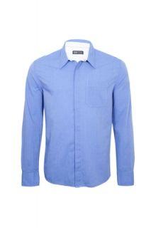 Camisa Pier Nine Manga Longa Social Muscle Azul   Compre Agora