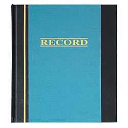 Office Depot® Brand Hardbound Account Book, 300 Pages, 11 3/4 x 7 1